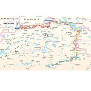 Rhein Radweg 1 Bikeline Fietsgids