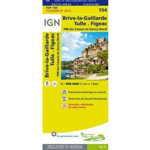 IGN 154 Brive-La-Gaillarde/Figeac