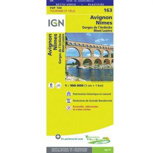 IGN 163 Avignon/Nimes