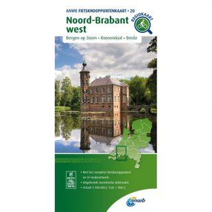 ANWB Fietsknooppuntenkaart 20 Noord Brabant west