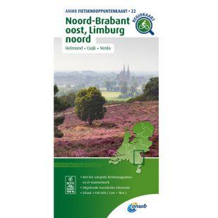 ANWB Fietsknooppuntenkaart 22 Noord Brabant oost - Limburg noord