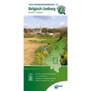 ANWB Fietsknooppuntenkaart 24 Belgisch Limburg