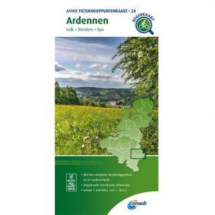 ANWB Fietsknooppuntenkaart 28 Ardennen