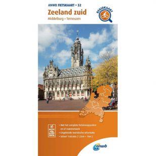 ANWB Regiokaart 32 Zeeland zuid