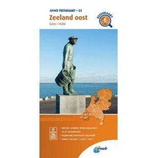 ANWB Regiokaart 33 Zeeland oost