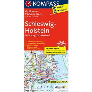 KP3701 Radkarte Schleswig-Holstein, Hamburg, Ostfriesland