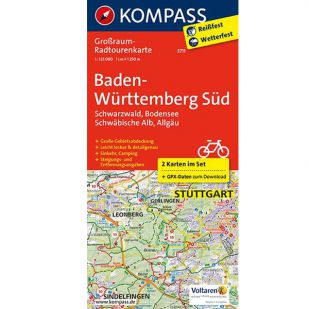 KP3711 Radkarte Baden-Württemberg Süd !