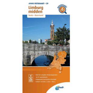 ANWB Regiokaart 39 Limburg midden