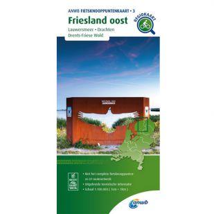 ANWB Fietsknooppuntenkaart 03 Friesland oost - Groningen west