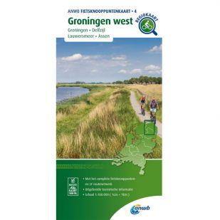 ANWB Fietsknooppuntenkaart 04 Groningen west