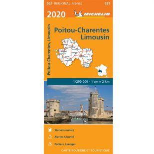 Michelin 521 Poitou Charente 2020