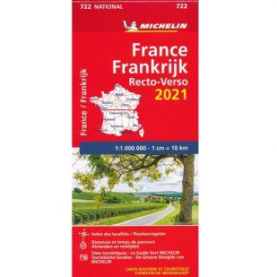 Michelin Wegenkaart 722 - Frankrijk Recto 2021