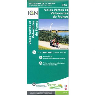 IGN 924 Voies vertes et Veloroutes de France