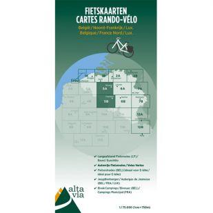 Alta Via Fietskaarten 5A en 5B Oost-Vlaanderen & Henegouwen