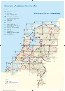 Basiskaart netwerk LF-routes (22 topo kaarten) - Druk 2020/2021 !
