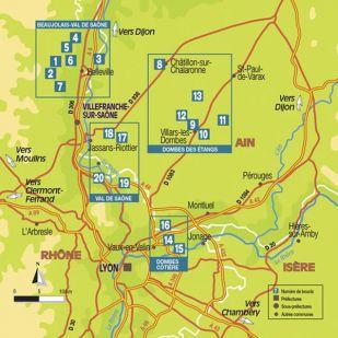 Boucles à vélo autour de Lyon - Dombes, Beaujolais, Val de Saône