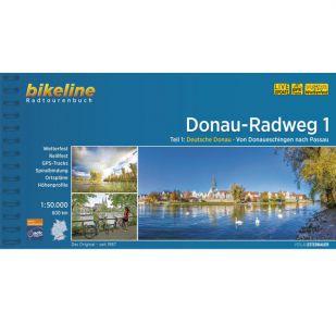 Donau Radweg 1 Donaueschingen-Passau Bikeline Fietsgids