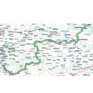 Radweg Deutsche Einheit Bikeline Fietsgids - Bonn - Berlijn