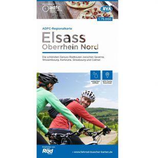 Fahrradkarte Elsass / Oberrhein-Nord