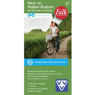 Fietskaart 17 West en Midden Brabant