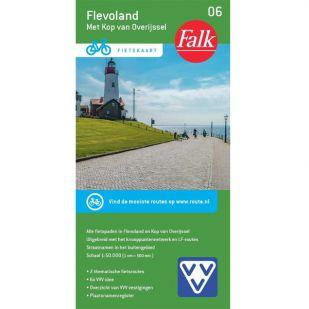 Fietskaart 6 Flevoland - Kop van Overijssel (2020)