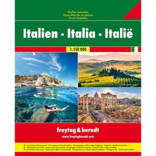 F&B Italië Groot Autoatlas 1:150.000