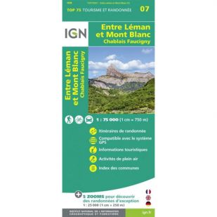 IGN Entre Léman et Mont Blanc (07)  - Wandel- en Fietskaart