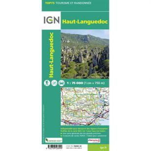 IGN Haut-Languedoc (22) - Wandel- en Fietskaart