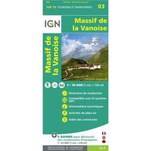 IGN Massif de la Vanoise (03) - Wandel- en Fietskaart