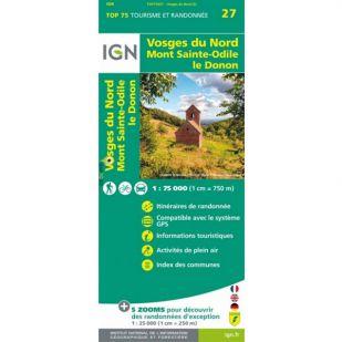 IGN Vogezen (27) - Vosges du Nord  - Wandel- en Fietskaart
