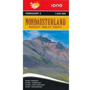 IJsland noord-oost Ferdakort