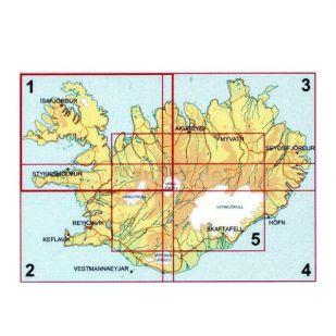IJsland zuid-west Ferdakort !