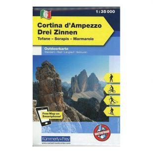 KF6 Cortina d'Ampezzo Drei Zinnen Outdoorkaart