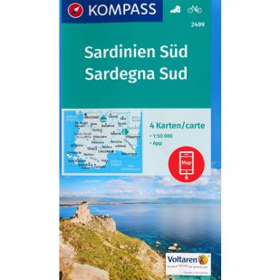 KP2499 Sardinien Zuid - 4 kaartenset