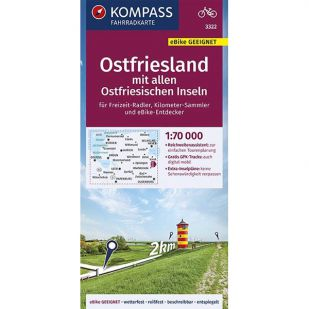 KP3322 Ostfriesland mit allen Ostfriesischen Inseln