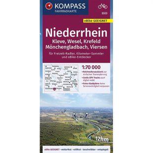 KP3323 Niederrhein - Kleve, Wesel, Krefeld, Monchengladbach, Viersen