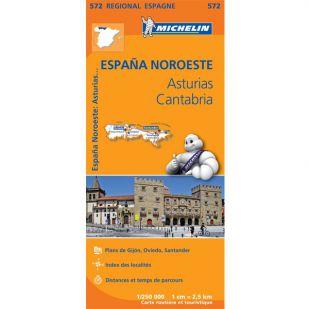 Michelin 572 Asturias-Cantabria