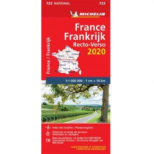 Michelin Wegenkaart 722 - Frankrijk Recto 2020