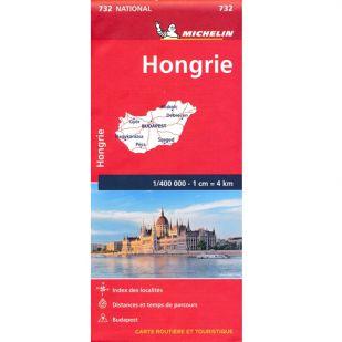 Michelin Wegenkaart 732 Hongarije