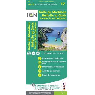 IGN Golfe du Morbihan (17)- Wandel- en fietskaart