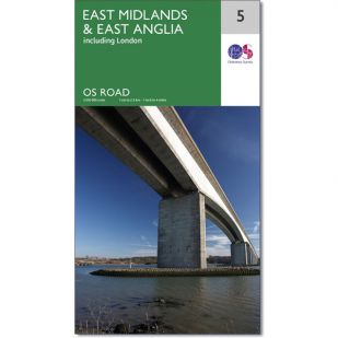 OS Road Map 5: East-Midlands