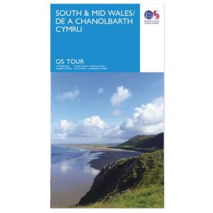 South & Mid Wales OS Tour Map