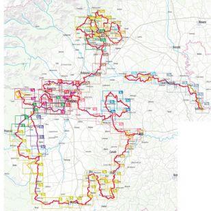 Piemont Radregion Bikeline fietsgids