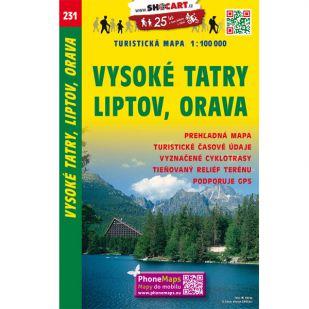 Shocart nr. 231 - Vysoke tatry, Liptov, Orava