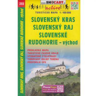 Shocart nr. 233 - Slovensky Kras, Slovensky Raj, Slovenske Rudohorie - vychod