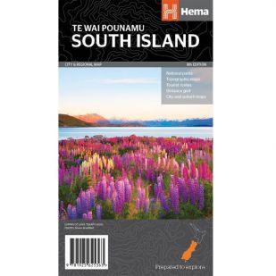 Nieuw-Zeeland - South Island Regional Map