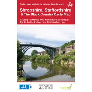 22. Shropshire, Staffordshire Cycle Map